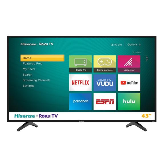 Pantalla Smart Hisense 55 Television 4k Led Hd Roku 55r6e /e