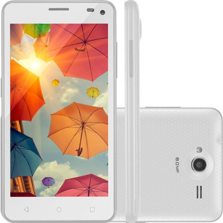 Smartphone Multilaser Colors Ms50, 8gb, Câmera 8.0mp, Dual Chip, Branco - P9002