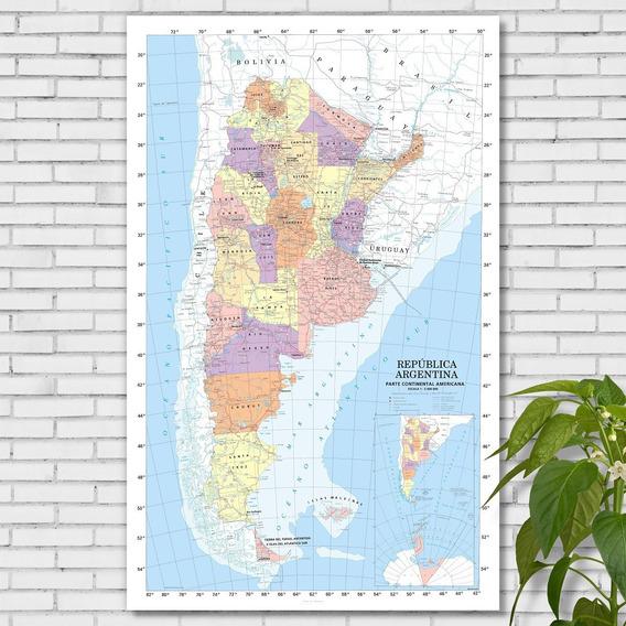 Mapa Político República Argentina 98cmx61cm