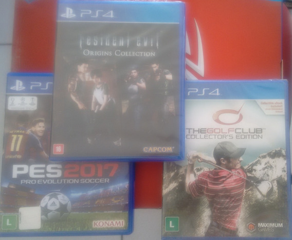 Pct De Jogos Ps4 -resident Evil Origns - Pes17-the Golf Club
