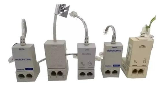 Kit Com 30 Filtros Adsl Telefone Modem Internet Duplo