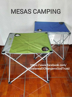 Mesas Camping Plegables