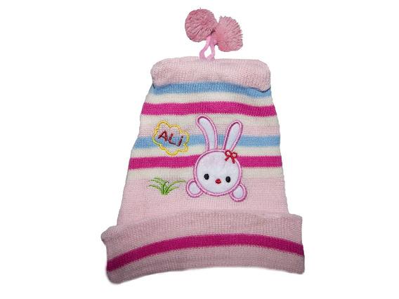 Touca Infantil Baby Rosa Claro Inverno