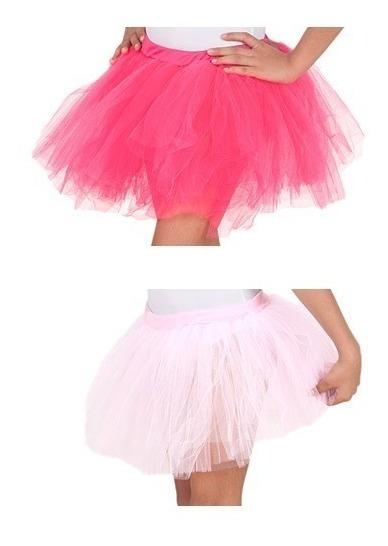Saia Tule Adulto Bloquinho Carnaval Feminina Rosa Pink