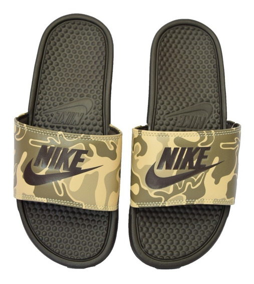 Ojota Nike Benassi Jdi Print Camuflado Militar