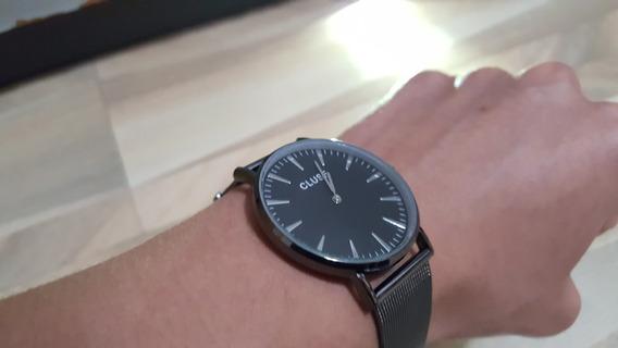 Relógio Formal Preto De Aço Inoxidável De Luxo - Luxury