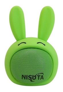 Nisuta Parlante Portatil Bluetooth Conejo Verde Ns-pa81bc-v