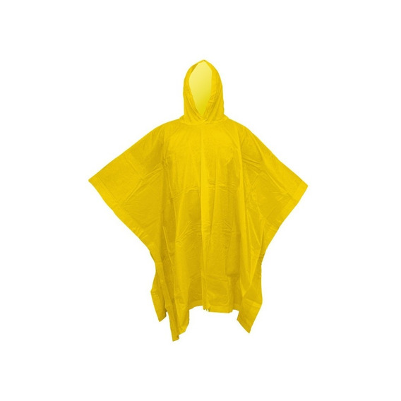 Poncho Amarillo Impermeable Capamanga Con Capucha Gruesa
