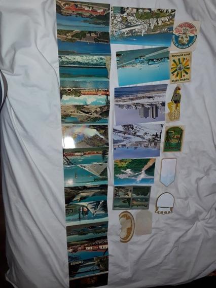 Postales Antiguas + Calcos Lote X 34 Unidades.