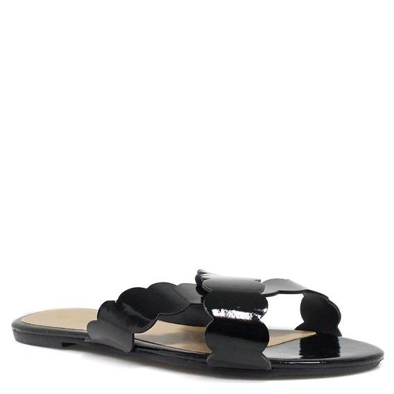 Rasteira Zariff Shoes Verniz Bico Aberto5085