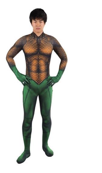 Disfraz Traje Aquaman Dc Comics Adulto/niño Cosplay