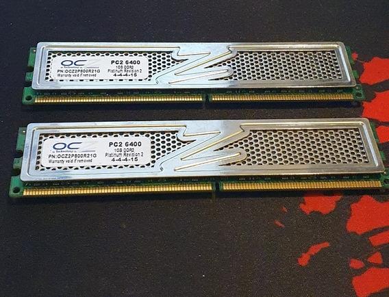 Memoria Ddr2 Ocz 2gb 800mhz (2x1gb)