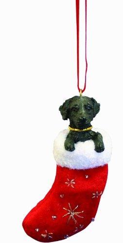 Labrador Negro Calcetin De Navidad Arbol Con Santa Pals  Pin