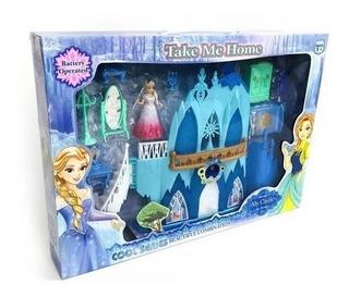 Castillo Princesas Grande Luz/sonido Y Accesorios Frozen 367