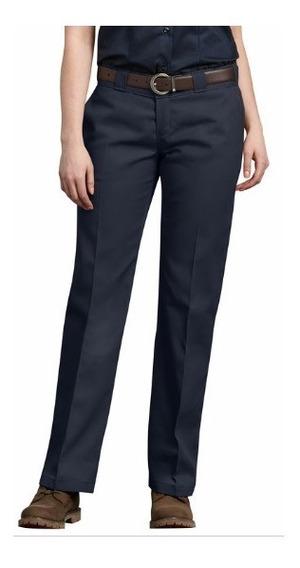 Pantalon Dickies Dama De Trabajo Con Ajuste Casual Azul