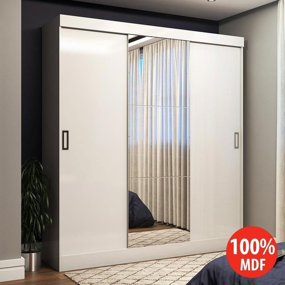 Guarda-roupa Casal 3 Portas De Correr 100% Mdf Emily Plus Co