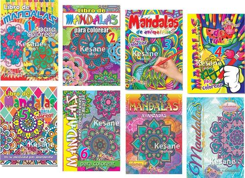 Imagen 1 de 3 de Mandalas Iluminar Colorear Paquete Varios Libros