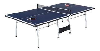 Mesa de ping pong MD Sports TTT415_027M azul y blanca