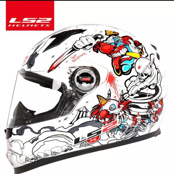 Original Ls2 Ff358 Moto Rcycle Capacete Full Face Alex Barro