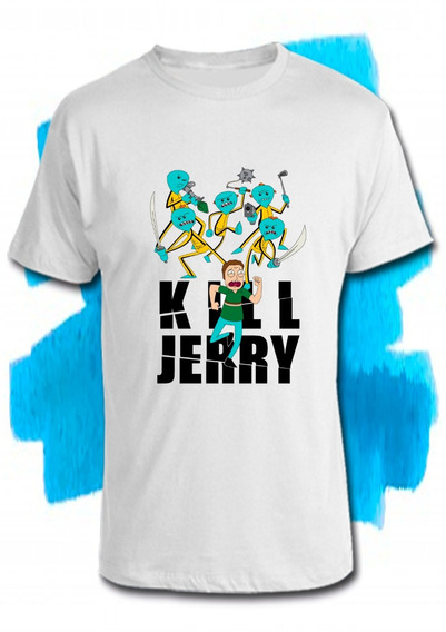 Remeras Rick And Morty- Mr Meeseks Kill Jerry A Full Color