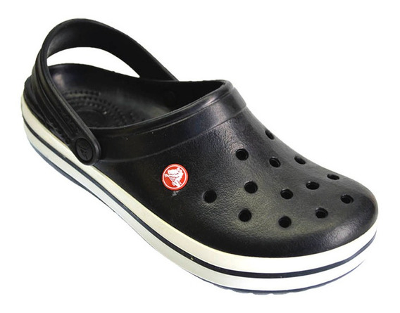 Crocs Originales Sueco Crocband Ojota Sandalia Ngo/bco