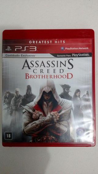 Jogo Assassins Creed Brotherhood Ps3 Ótimo Estado Perfeito