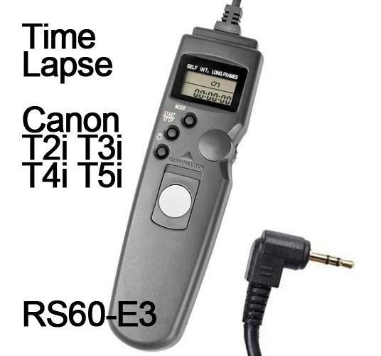 Cabo Disparador Remoto Time Lapse Canon Rebel T3i T4i T5i