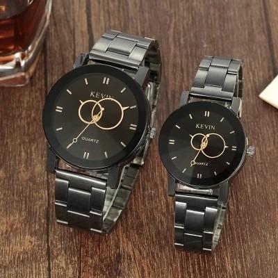 2 X Relógio Pulso De Quartzo Marca Kevin Conjunto M/f