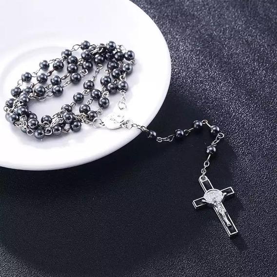 Rosario De Obsidiana, Regalo, Religioso, Primera Comunion