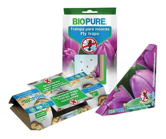 Trampa Para Eliminar Cucaracha Y Mosca Ecologica 10 Pack
