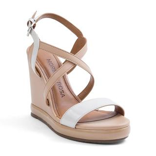 Sandalia Anabela Morena Rosa Shoes Traseiro De Afivelar