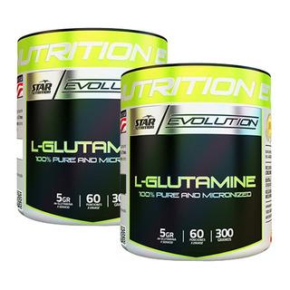 Glutamina Star Nutrition 300 Gr X 2 Unidades Micronizada