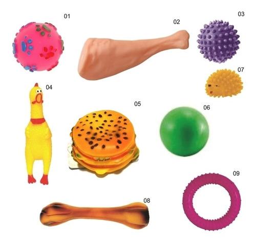 Kit 9 Brinquedos De Borracha Mordedor P/ Cães Cachorro - Pet