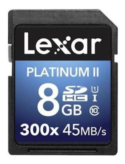 Cartao De Memoria Lexar 8gb 300x 48mbs Platinum Ii
