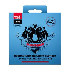Cordas Monterey Para Guitarra 009 Tensão Leve + Brinde