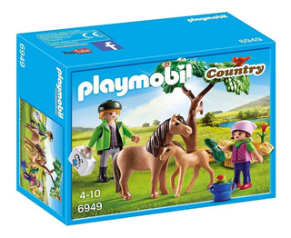 Playmobil 6949 Country Veterinario De Ponys Orig Intek