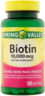 Biotina 10.000 Mcg 120 Softgels Pele Unhas Cabelos Importada