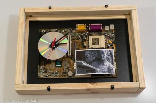 Relógio Parede Porta-retrato Cd/dvd Placa Mãe Megatrends