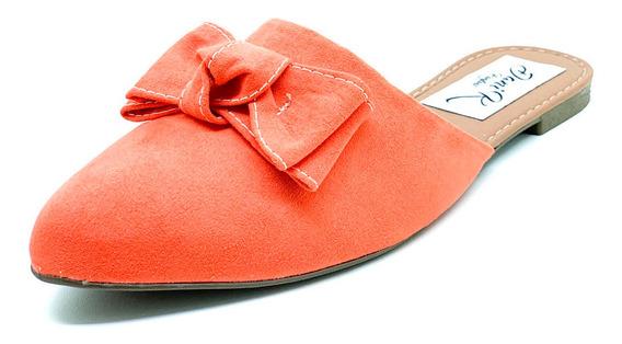 Sapatos Femininos Mule Nobuck Laço Dani K