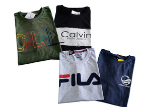 Kit 4 Camisetas Masculina Multimarcas Marca Estampada Blusa