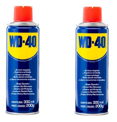 Imagem 1 de 2 de Wd40 Spray Produto Multiusos Desengripa Lubrifica 300ml 2pçs