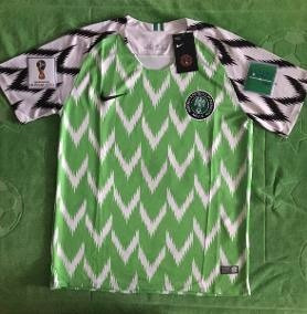Genial Jersey Nigeria Parches Mundial Rusia 2018 Verde Local
