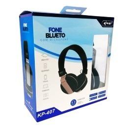 Fone Bluetooth, Com Rádio Fm E Micro Sd Knup Kp-407