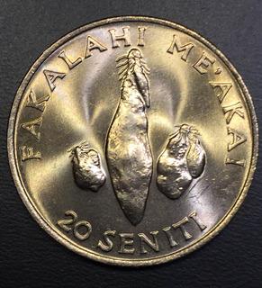 Ton009 Moneda Tonga 20 Seniti 1981 Unc-bu Ayff