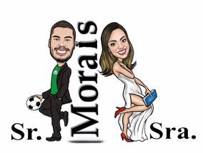 Caricatura Digital Sr E Sra Smith Desenho Casal Apaixonado