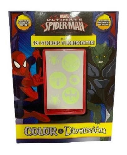 Imagen 1 de 4 de Libro Para Colorear De Ultimate Spider-man - Marvel!!