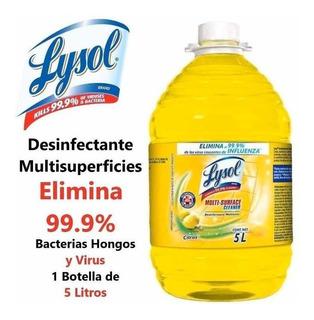 Lysol Desinfectante Antibacterial 5 Litros Elimina Virus