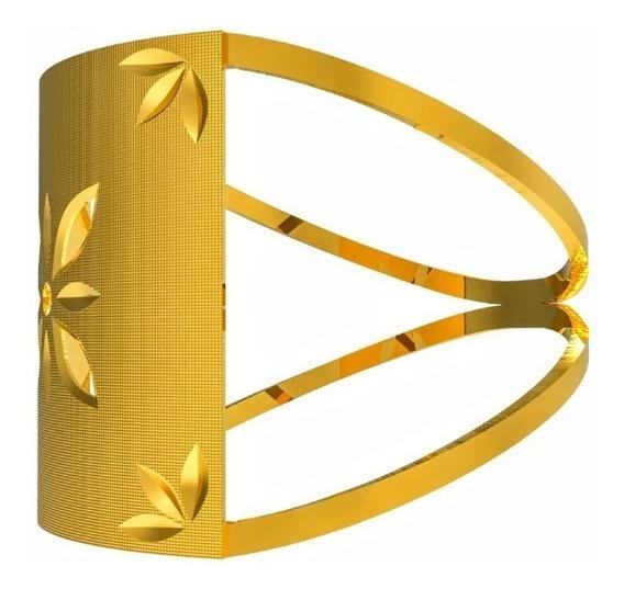Anel Chapinha De Ouro