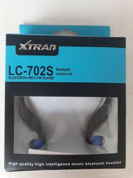 Fone De Ouvido Bluetooth Sem Fio Boas Lc-702s Preto Novo