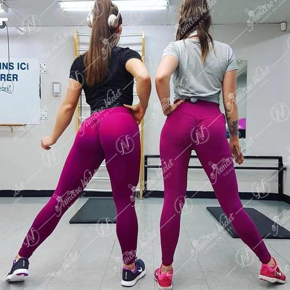 Leggings Efecto Push Up Plisado Deportivo Sexy Moda
